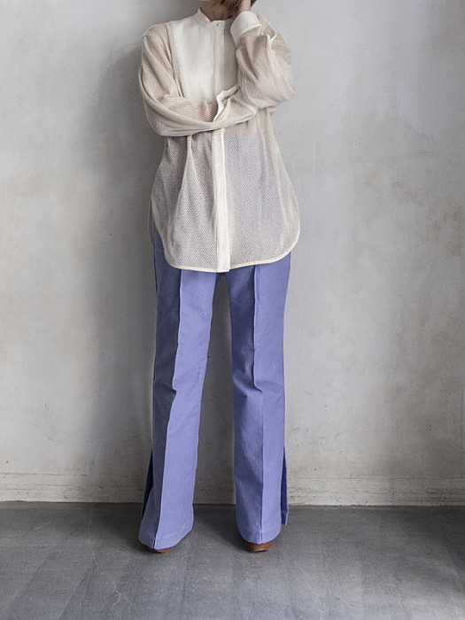 YOHEI OHNO/Bone shape mesh shirts
