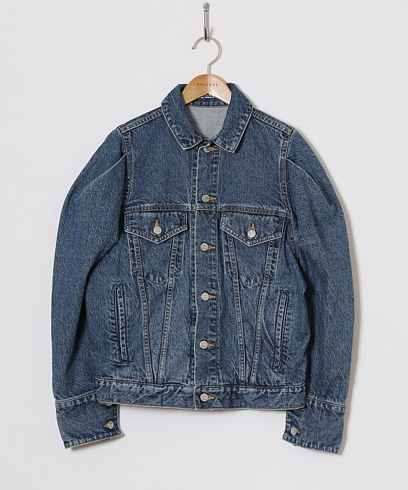 HOLIDAY/PUFF SLEEVE DENIM JACKET