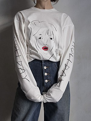 holiday/DRAWING L/S TEE