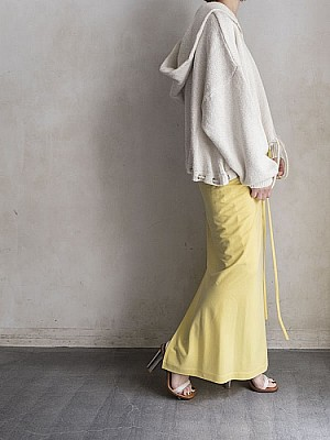 08sircus/suede cupra cross maxi skirt