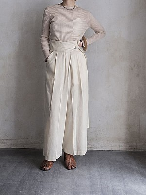 08sircus/Double voile wrap front pants