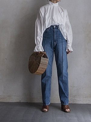 HOLIDAY/switch denim high-waist wide Pants