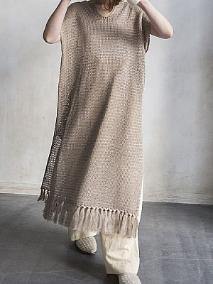 VillD / Linen knit caftan dress