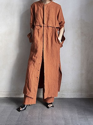 VillD/3way linen long shirts