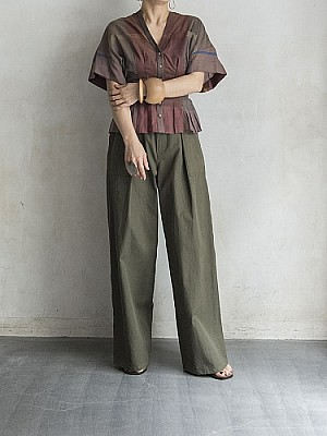 CURRENTAGE/wide safari pants