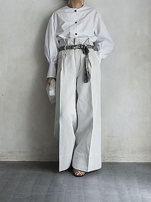 VENIT/cotton linen wide  pants