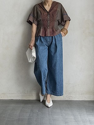 SEA NEW YORK/PLEATED BLOUSE