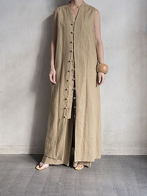 VillD /   Linen 2Way one-piece