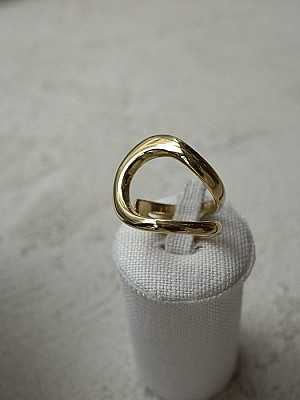 Blanc iris / whirlpool Ring (Gold)