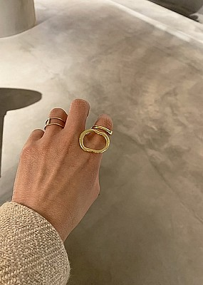 Blanc iris /reef Ring (gold)