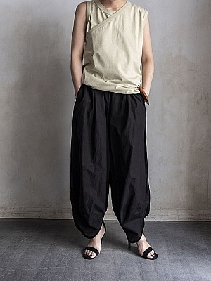INSCRIRE/cotton tenjiku layered Tank