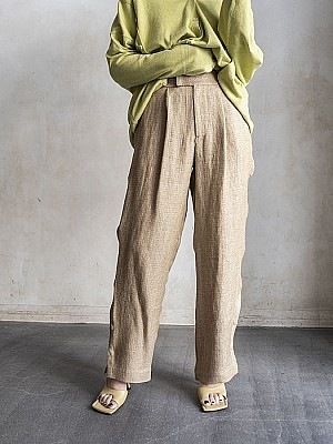 VillD/linen geometric pants[SALE]