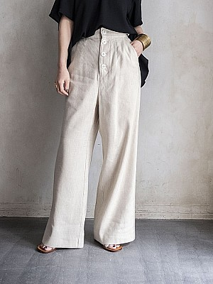 VillD/ Linen tweed high waist pants[SALE]