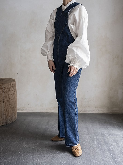 CURRENTAGE/denim salopette