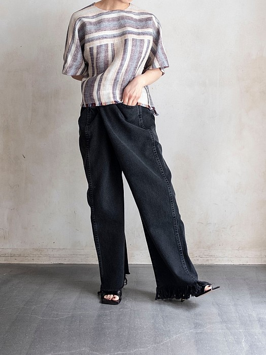 MAISON EUREKA / VINTAGE BIGGY DENIM PANTS <black>