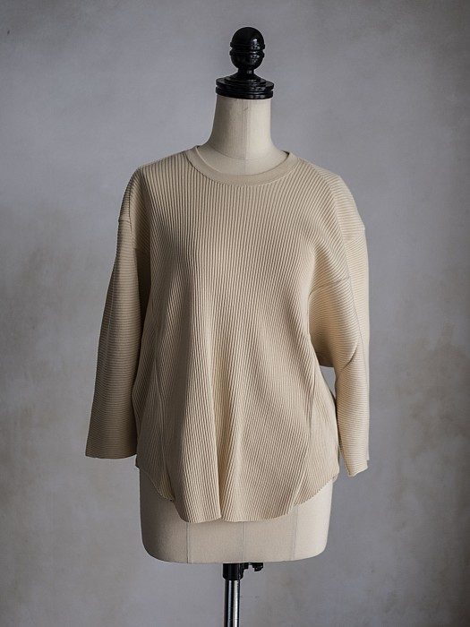 ARCHI/BROAD RIB RAGLAN VOLUME TOP
