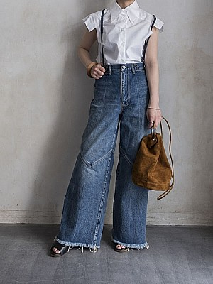 FILL THE BILL/SUPENDERS DENIM WESTERN<blue>