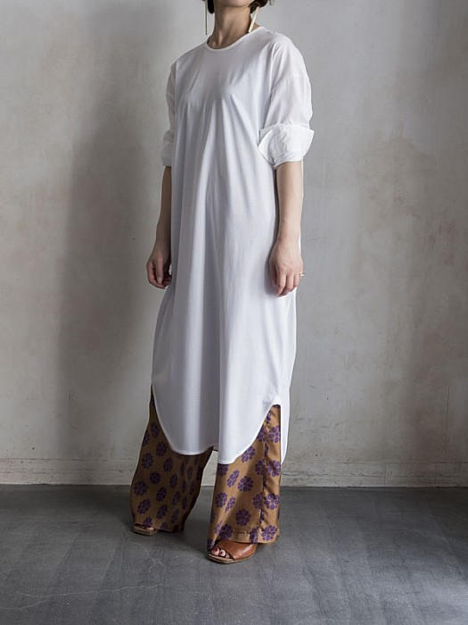 RAINMEAKER/Long tail cuffed shirt dress