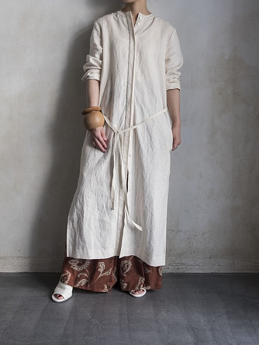 vonique /linen tunic one-pice(N)