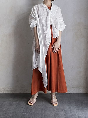 SEA/Vintage Ramie Linen Canvas Asymmetry Remake Sh