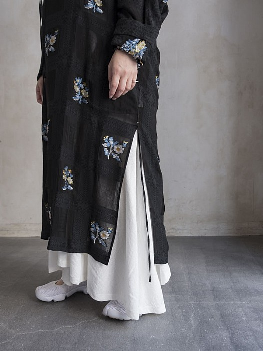 08sircus/CROSS STITCH JACQUARD GOWN