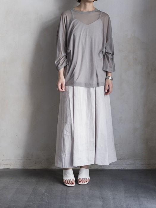 08sircus/Soft sheer jersey  top
