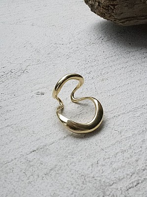 Blan iris / volute ear cuff -1 (gold)