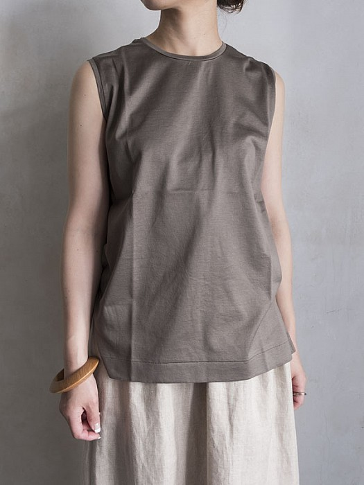 Phlannel/Mercerization Suvin Sleeveless T-shirt