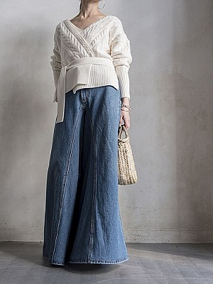 MM6 / BLEACHED WASHED PANTS 5 POCKETS