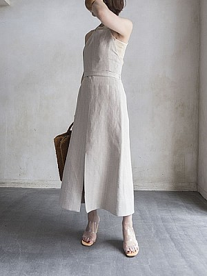CURRENTAGE/linen one-piece