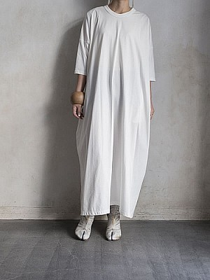 08sircus/Compact jersey round neck dress