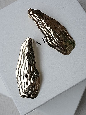 MARGE / Ripple shape earrings
