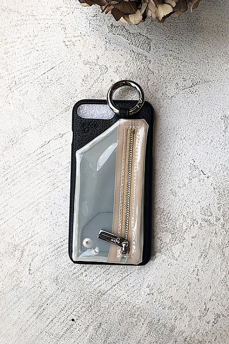 ajew/PVC zipphone case<iphone6plus/7plus/8plus共通ケー