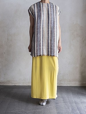 CURRENTAGE/no-sleeve linen blouse<sale>