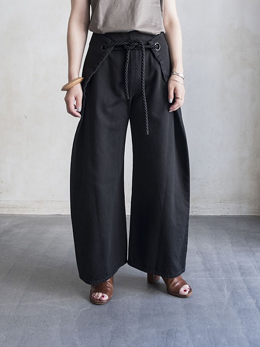 MM6/LARGE DENIM TROUSERS WITH SIDE PANELS