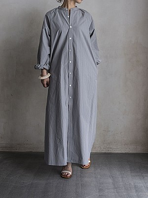 Phlannel/Shuttle Stripe Long Shirt Dress