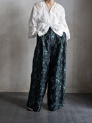 CURRENTAGE/jacquard  wide pants