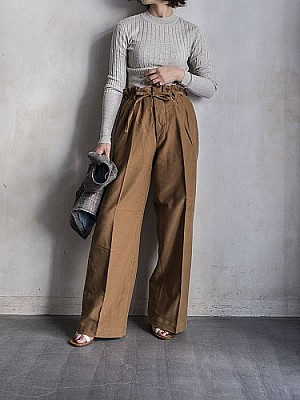 WRYHT/STRING WAIST WORK TROUSER