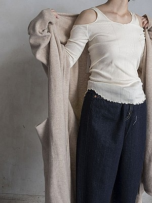 HAKUJI/cotton silk separate long sleeve  [SALE]