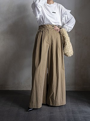 INSCRIRE/chino wide  pants