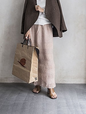 FILL THE BILL/BORDER FRINGE SKIRT