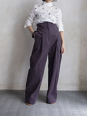Lautashi/corduroy pants - purple