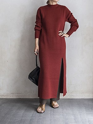 Lautashi/long knit dress