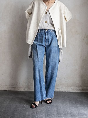 MM6/hight rise denim
