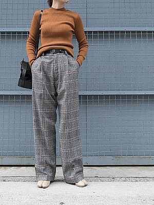 【sale】HOLIDAY/check wide pants