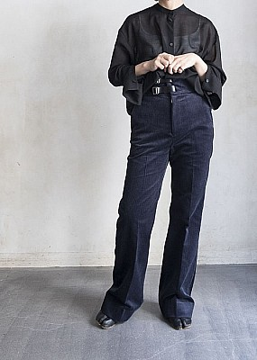 ALLEGE/ high waist corduroy pants
