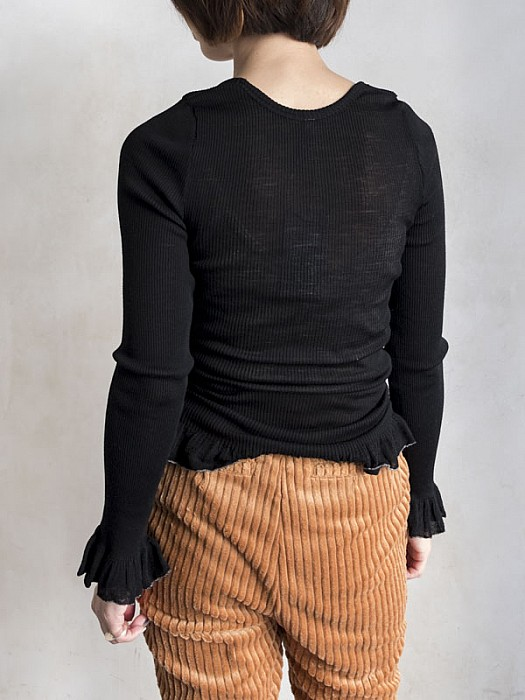 babaco/wool fine ribbed pullover  [SALE]