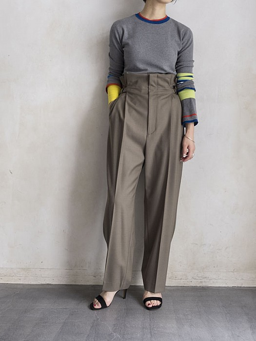VillD / High waist tuck pants