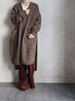 Phlannel / Wool Mohair Long Mantle Cardigan