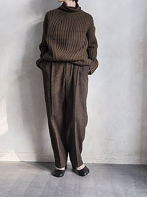 VillD / Tweed high waist pants